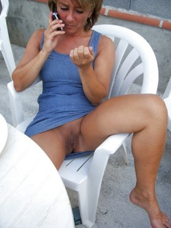 En terrasse ...