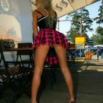 Une blonde au Bar