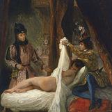 Louis Ier d'Orléans dévoilant une maîtresse (Mariette d'Enghien) par Eugène Delacroix