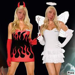 photmontage ange and demon qui suis je