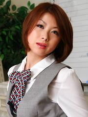 Japanese slut Tsubaki showing her hairy pussy - Japarn porn pics at JapHole.com